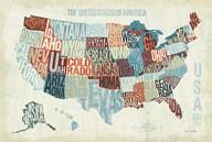 USA Modern Blue Fine-Art Print