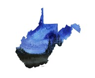 West Virginia State Watercolor Fine-Art Print