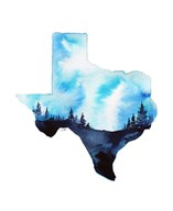 Texas State Watercolor Fine-Art Print