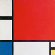 Composition II in Red, Blue, and Yellow Fine-Art Print