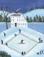 Snow Ball Baseball Fine-Art Print