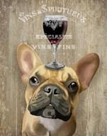 Dog Au Vin, French Bulldog Fine-Art Print