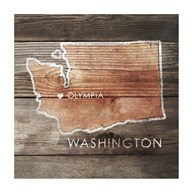 Washington Rustic Map Fine-Art Print