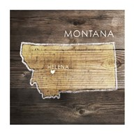Montana Rustic Map Fine-Art Print