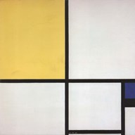 Composition with Blue and Yellow Fine-Art Print