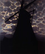 Windmill at Night Fine-Art Print