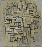 Composition in Brown and Gray Fine-Art Print
