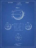 Blueprint Basketball 1929 Game Ball Patent Fine-Art Print