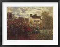The Artist's Garden in Argenteuil (A Corner of the Garden with Dahlias), c.1873 Fine-Art Print