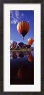 Reflection of Hot Air Balloons, Hot Air Balloon Rodeo, Steamboat Springs, Routt County, Colorado, USA Fine-Art Print