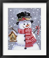 Snowman With Tophat Fine-Art Print