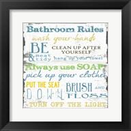 Bathroom Rules Multi 1 Fine-Art Print