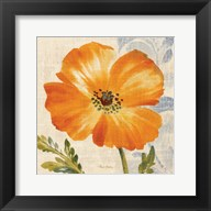 Watercolor Poppies III (Orange) Fine-Art Print