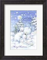 Merry Christmas Polar Bears Fine-Art Print