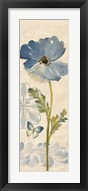 Watercolor Poppies Blue Panel II Fine-Art Print