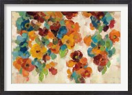 Spice and Turquoise Florals Fine-Art Print