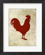 Rooster Silhouette 1 Fine-Art Print