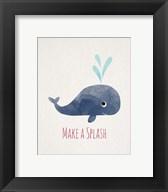 Make a Splash Whale White Fine-Art Print