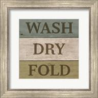 Wash Dry Fold Painted Wood Fine-Art Print