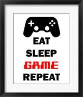 Eat Sleep Game Repeat  - White Fine-Art Print