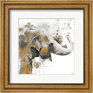 Water Elephant with Gold Fine-Art Print