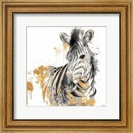 Water Zebra With Gold Fine-Art Print