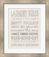 Laundry Rules on Whiate Fine-Art Print