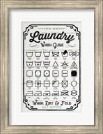 Laundry Wash Guide Fine-Art Print