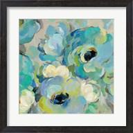 Fresh Teal Flowers III Fine-Art Print