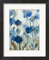Abstracted Floral in Blue III Fine-Art Print