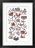 The Walking Dead Map Verb Fine-Art Print