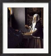 Woman Holding a Balance Fine-Art Print