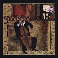 Jazz Cello Framed Print