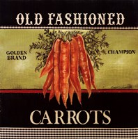 Old Fashioned Carrots Framed Print
