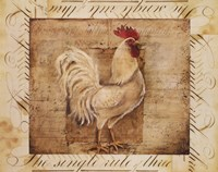 Rustic Farmhouse Rooster I Framed Print