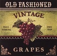 Vintage Grapes Framed Print