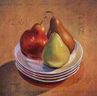 Three Pears Framed Print