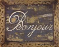 Bonjour Framed Print