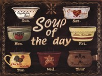 Soup of the Day Framed Print