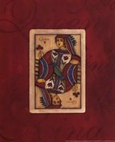 Queen Card Framed Print
