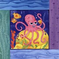Seafriends-Octopus Framed Print
