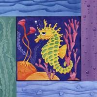 Seafriends-Seahorse Framed Print