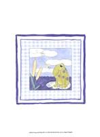 Frog with Plaid (PP) I Framed Print