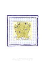 Frog with Plaid (PP) III Framed Print