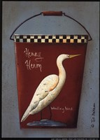 Henry Heron Bucket Framed Print
