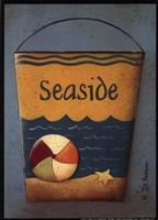 Seaside Bucket Framed Print