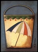 Umbrella Bucket Framed Print