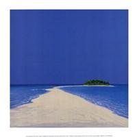 Island in the Sun II Framed Print