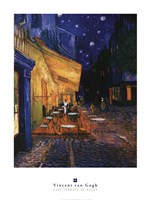 The Cafe Terrace on the Place du Forum, Arles, at Night, c.1888 Framed Print