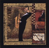 Jazz Sax - Petite Framed Print